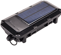 Solar powered asset tracking system
